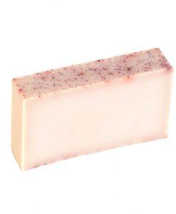Rose Geranium Essential Oil Organic soap (freshly cut slice)