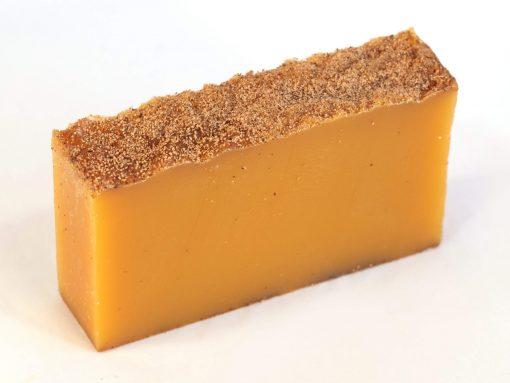 Lemon Myrtle & Eucalyptus Essential Oil Organic Soap (fresh cut slice)